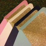 glitter envelopes