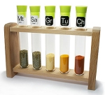test tube spice rack from Totally Funky