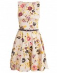 autumn floral and bird dress from aspire style