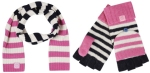 joules bawdy striped scarf and gloves from my bag