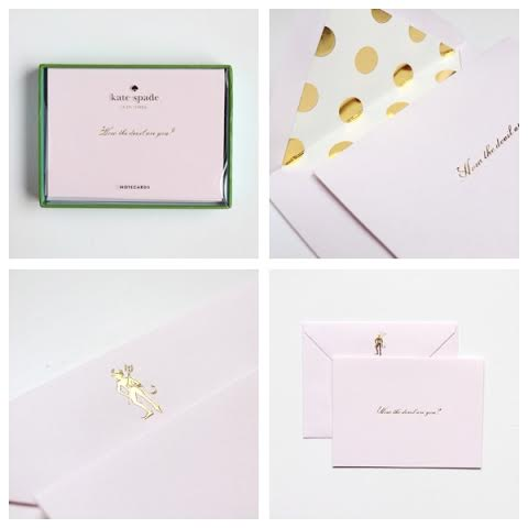 kate spade notecards from Quill London