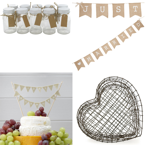 paperchase rustic wedding items
