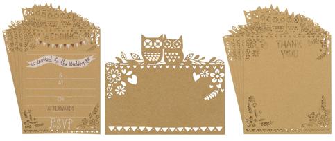 paperchase woodland wedding stationery