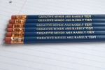 creative minds are rarely tidy pencils from folksy