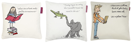 roald dahl square cushions from john lewis