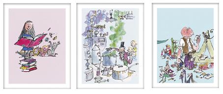 roald dahl prints from john lewis