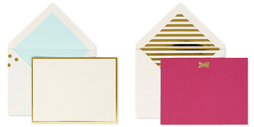 kate spade correspondence cards