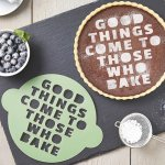 good things come to those who bake stencil from etsy