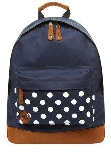 navy spot bag from dorothy perkins