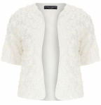 3d rose effect shrug from dorothy perkins