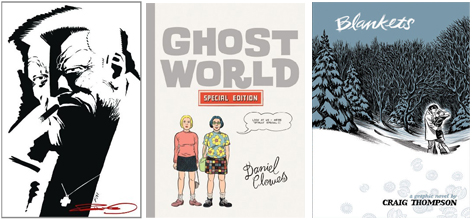 sin city ghost world and blankets covers