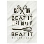 beat it tea towel from Tesco