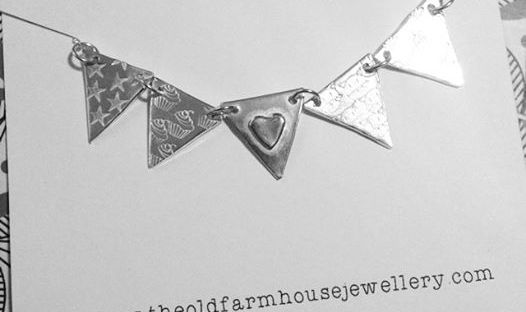 bunting necklace from the old farmhouse jewellery