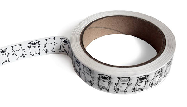 dancing pug tape from the curious pancake