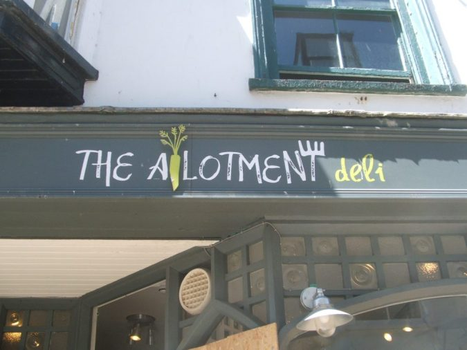 the allotment deli, st ives