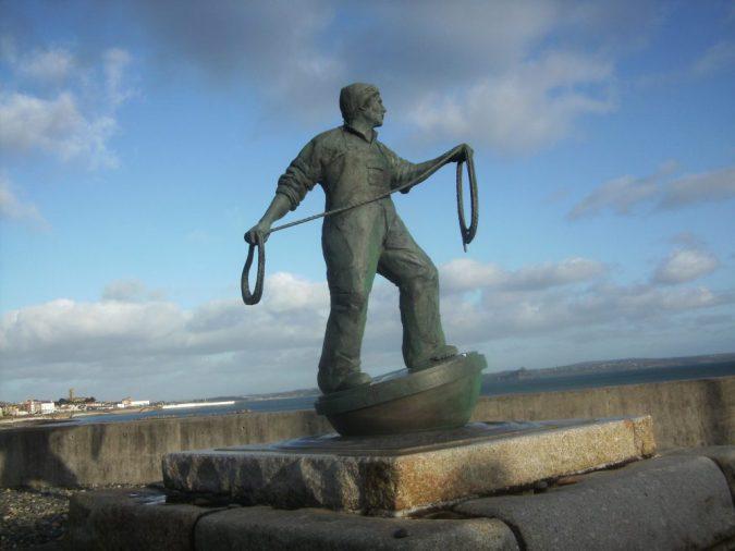 Fisherman statue, Newlyn
