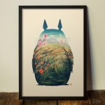 my neighbour totoro print from firebox