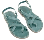 teal sandals from etsy