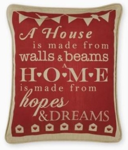 red home print cushion from next