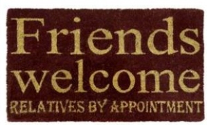 friends doormat from next