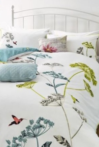 hummingbird print bed set from next