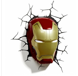iron man mask wall light from truffle shuffle