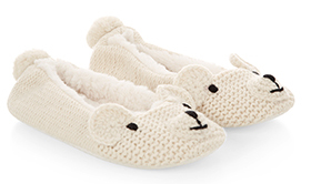 polar bear slippers from accessorize