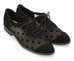 polka dot brogues from accessorize