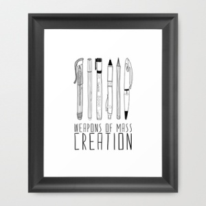 weapons of mass creation print from society 6