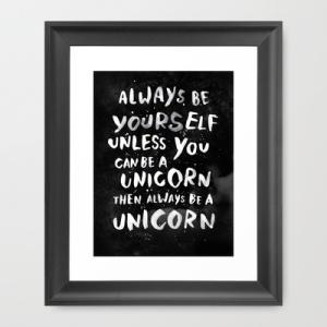 unicorn print from society 6