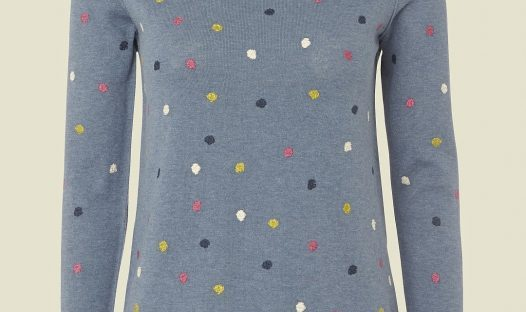 mad about spots jumper from white stuff