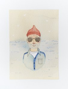 steve zissou print from andsmile studio