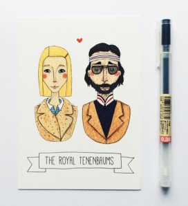 the royal tenenbaums postcard from andsmile studio
