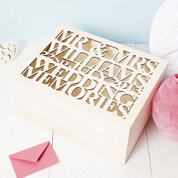 wedding keepsake box from not on the high street