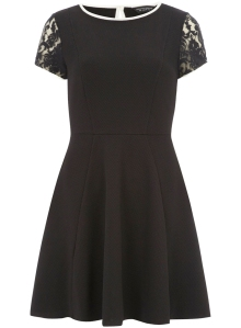 black lace dress from dorothy perkins