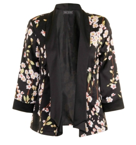 Girls on Film Floral Print 3/4 Sleeve Jacket from Dorothy Perkins