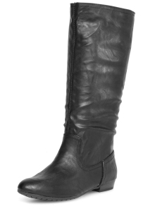 Black knee high boots from Dorothy Perkins