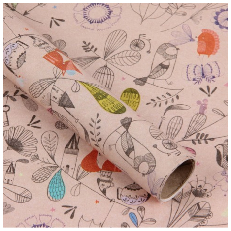 dreamscape wrapping paper from paperchase