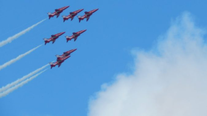 red arrows, falmouth