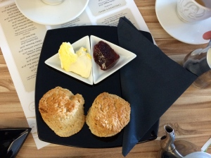 cream tea from The View cafe, St Mawes