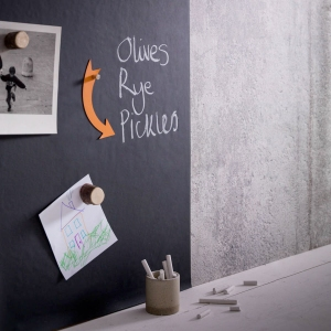 magnetic blackboard wallpaper from not on the high street