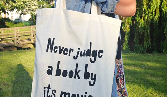 never judge a book by its movie tote from book lover gifts