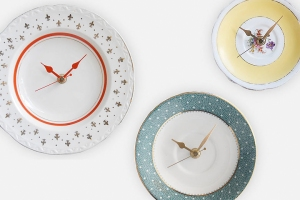 vintage plate clock from not on the high street