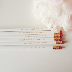 wuthering heights pencils from dottie rocks