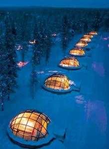 glass igloo in finland