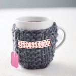 knit mug cosy from not on the high street