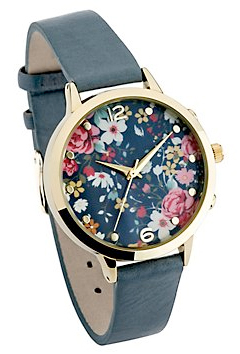 blue floral watch from new look