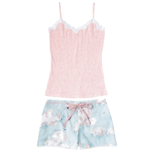 cath kidston clouds vest and short set