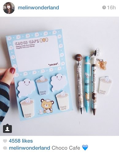 choco cafe stationery