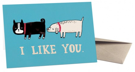 i like you valentines day card from ohh deer